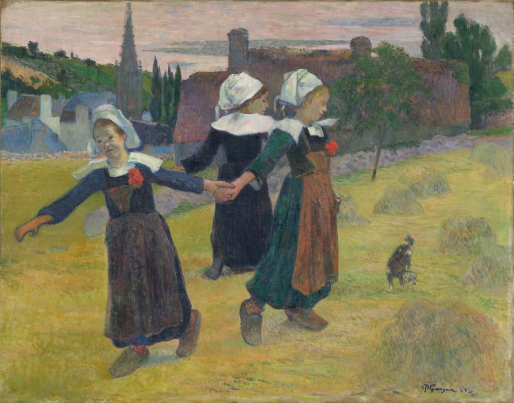 Pont-Aven School Paul Gauguin (French, 1848 - 1903 ), Breton Girls Dancing, Pont-Aven, 1888, oil on canvas, Collection of Mr. and Mrs. Paul Mellon