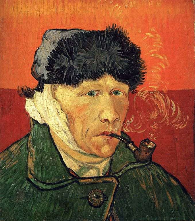Vincent van Gogh, Self-Portrait With a Bandaged Ear and Pipe, 1889, private collection Stavros Niarcos