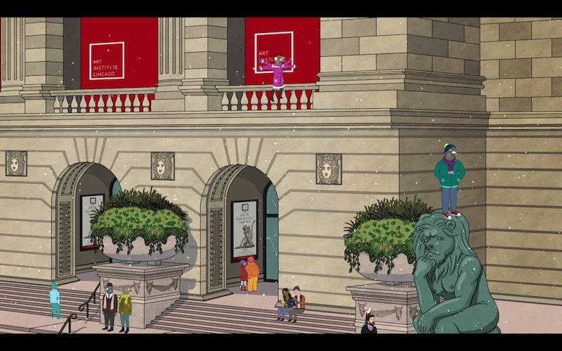 Art Institute of Chicago in BoJack Horseman s06e03