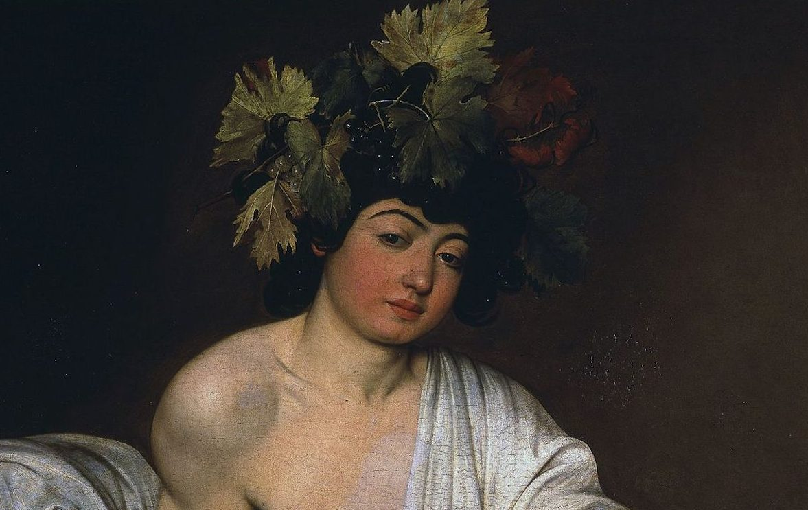 caravaggio bacchus Caravaggio, Bacchus, c. 1596, Galleria degli Uffizi, Florence