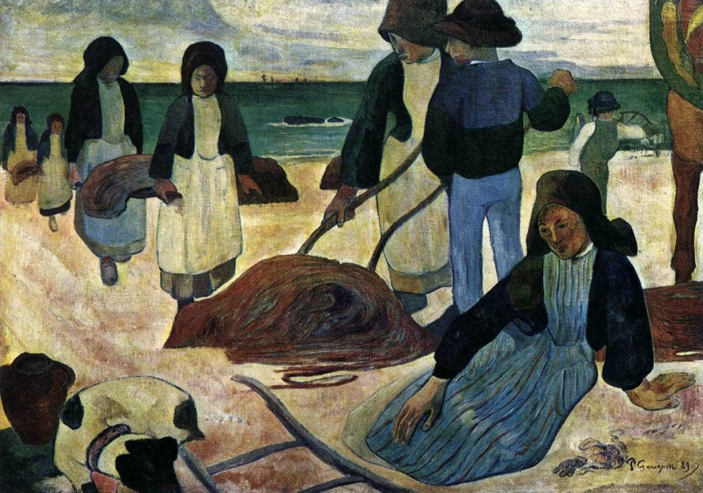 Pont-Aven school Paul Gauguin, The Seaweed Harvesters, 1889, Museum Folkwang, Essen