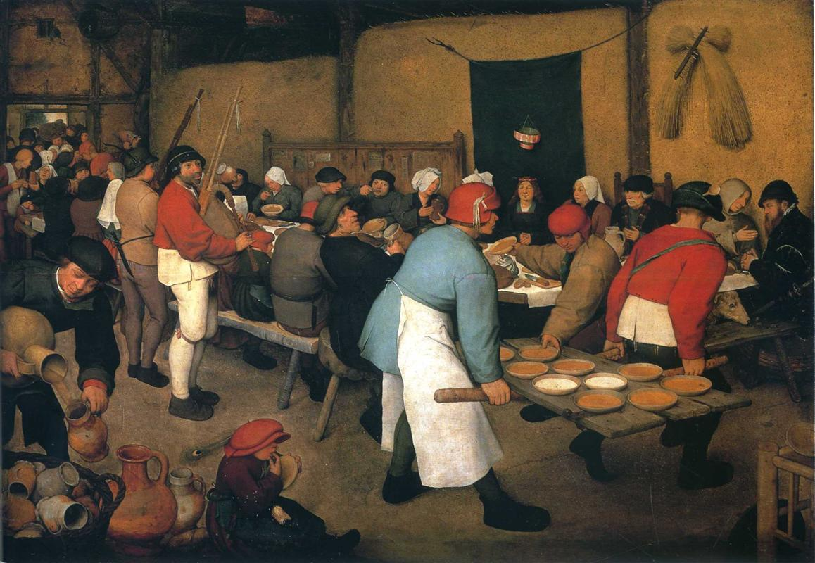 Pieter Bruegel the Elder, Peasant Wedding, 1568, Kunsthistorisches Museum, Vienna, Austria, wedding paintings