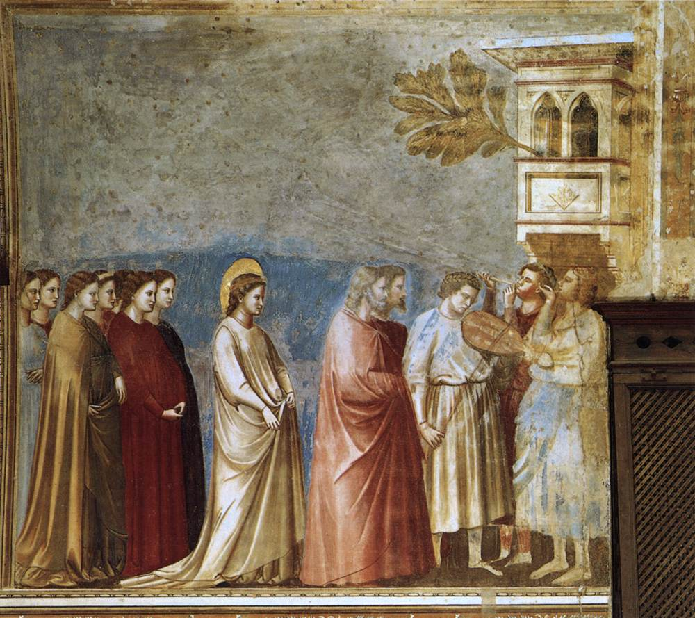 Giotto, The Virgin's Wedding Procession (a part of the cycle of frescoes),1305, Scrovegni Chapel, Padua, Italy, wedding paintings