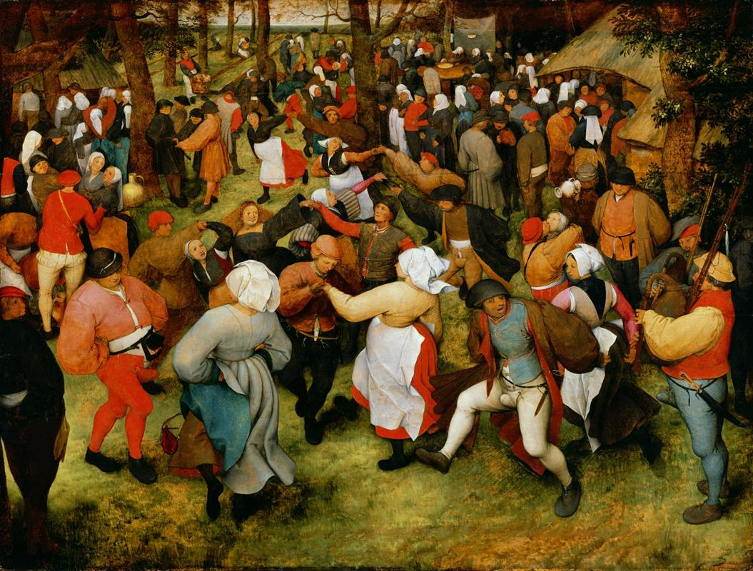 Pieter Bruegel the Elder, The Wedding Dance in the open air. c.1566, Detroit Institute of Arts, Detroit, MI, wedding paintings