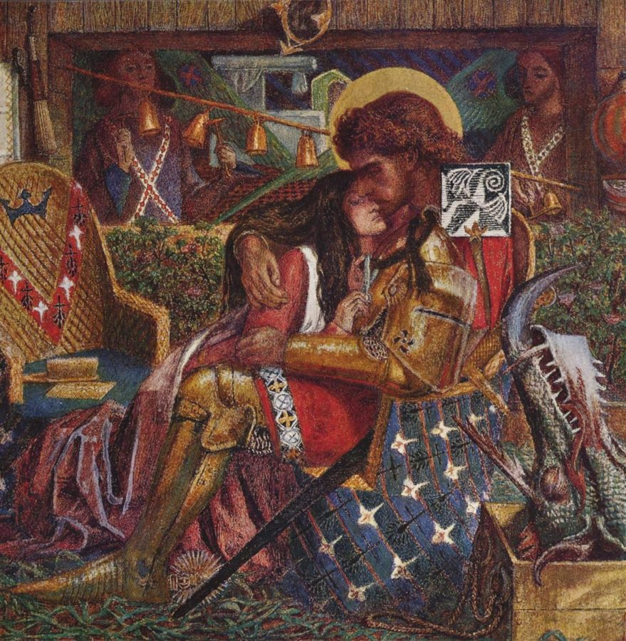 Dante Gabriel Rossetti, The wedding of Saint George and Princess Sabra, 1857, Tate Modern, wedding paintings