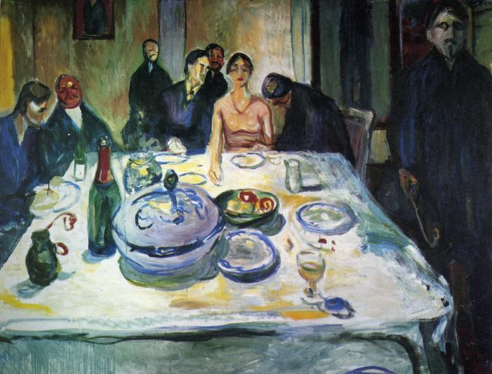 Edvard Munch, The Wedding of the Bohemian, Munch Seated on the Far Left, 1925, Munch Museum, Oslo, Norway, wedding paintings