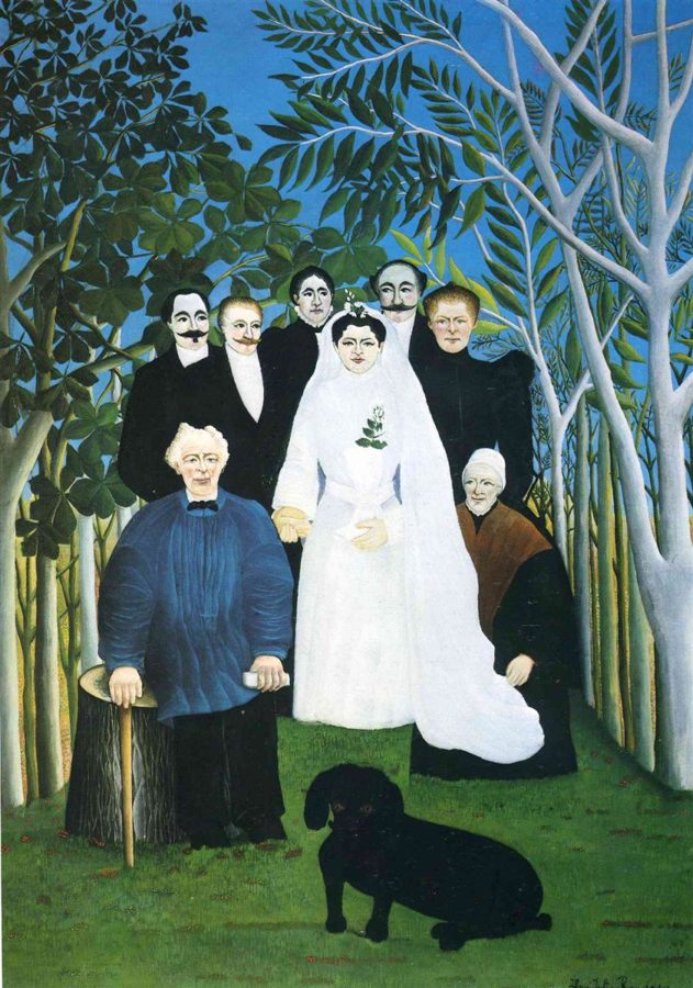 Henri Rousseau, The wedding party, c.1905, Musée de l'Orangerie, Paris, France, wedding paintings