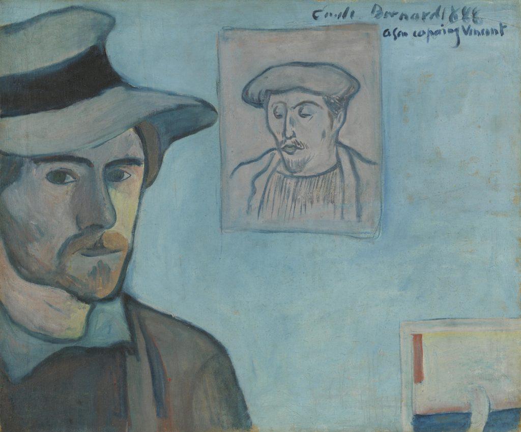 Pont-Aven School Self-Portrait with Portrait of Gauguin, 1888, Émile Bernard, Van Gogh Museum, Amsterdam