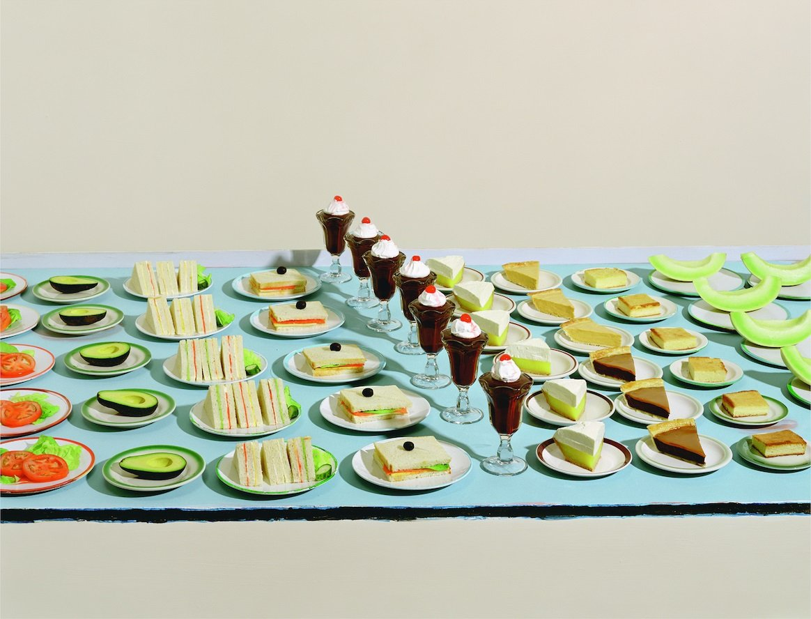 Sharon Core, Thiebauds - Salads, Sandwishes, and Desserts, analogue C-Print, 139.7 x 182.9 cm, 2003. Source: https://hyperallergic.com/245428/a-poetics-of-appropriation-on-sharon-core/
