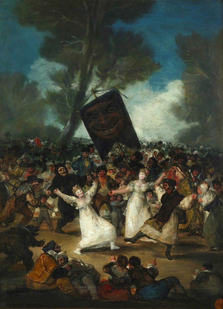 funeral paintings Francisco Goya y Lucientes, The Funeral of the Sardine, 1812-1819, Real Academia de Bellas Artes de San Fernando