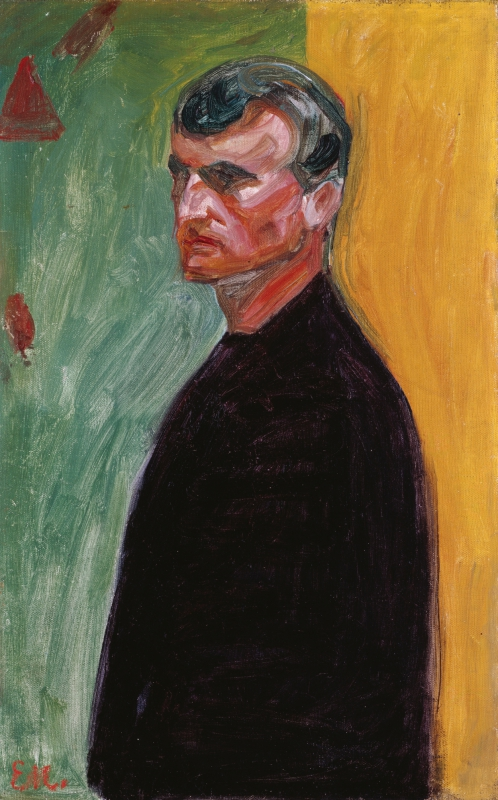 Edvard Munch, Self-portrait against two-coloured background, 1904 © Courtesy Heidi Horten Collection; Art Collection of Heidi Horten