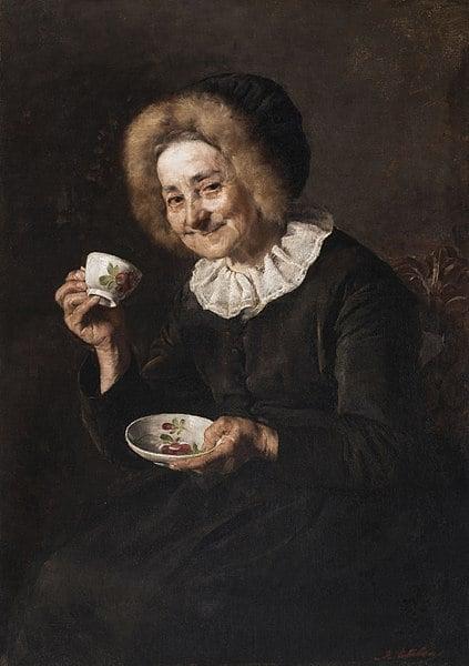 Ivana Kobilca, Woman Drinking Coffee, 1888, National Gallery of Ljubljana, ivana kobilca slovenia