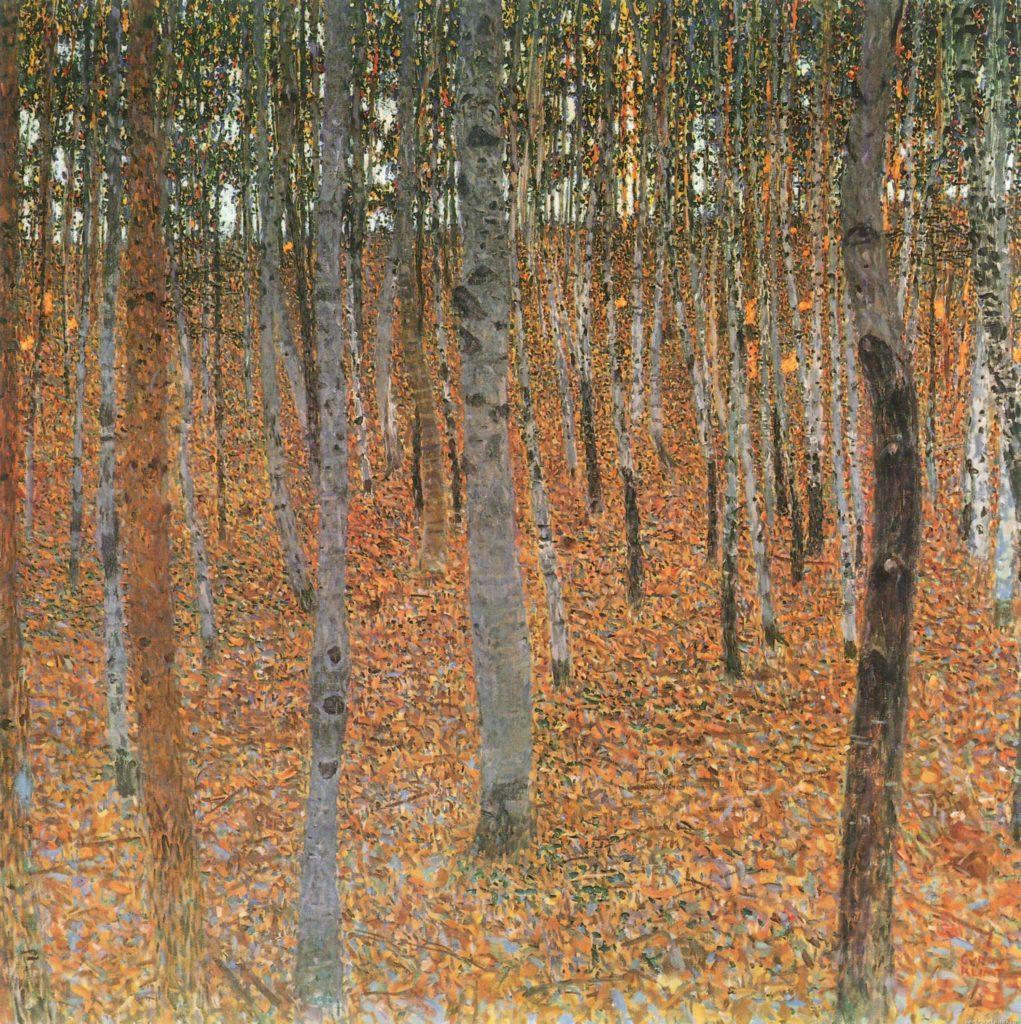 gustav klimt trees paintings Gustav Klimt Forest of Beech trees 1903