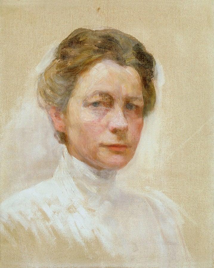 Ivana Kobilca, Self Portrait in White, c. 1910, National Gallery of Slovenia, Ljubljana, ivana kobilca slovenia