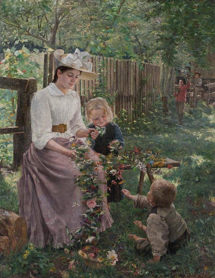 Ivana Kobilca, Summer, 1889–1890, National Gallery of Slovenia, Ljubljana, ivana kobilca slovenia