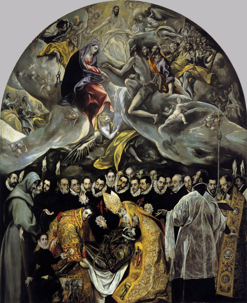 funeral paintingsEl Greco, The Burial of the Count of Orgaz, 1586–1588, Iglesia de Santo Tomé, Toledo, Spain