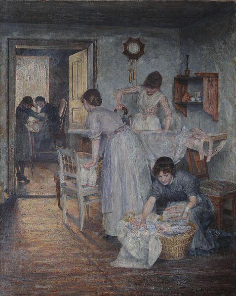 Ivana Kobilca, Ironing women, 1890, Private collection, ivana kobilca slovenia