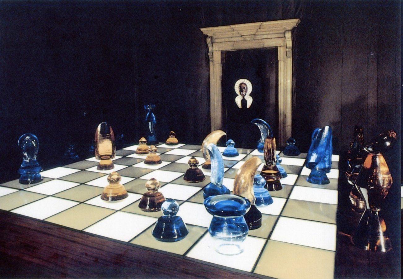 Max Ernst, Egidio Costantini, Immortal, 1967, Source: Il Ridotto, angels forge glass