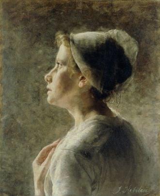 Ivana Kobilca, A Dutchwoman, 1886, National Gallery of Slovenia, Ljubljana, ivana kobilca slovenia