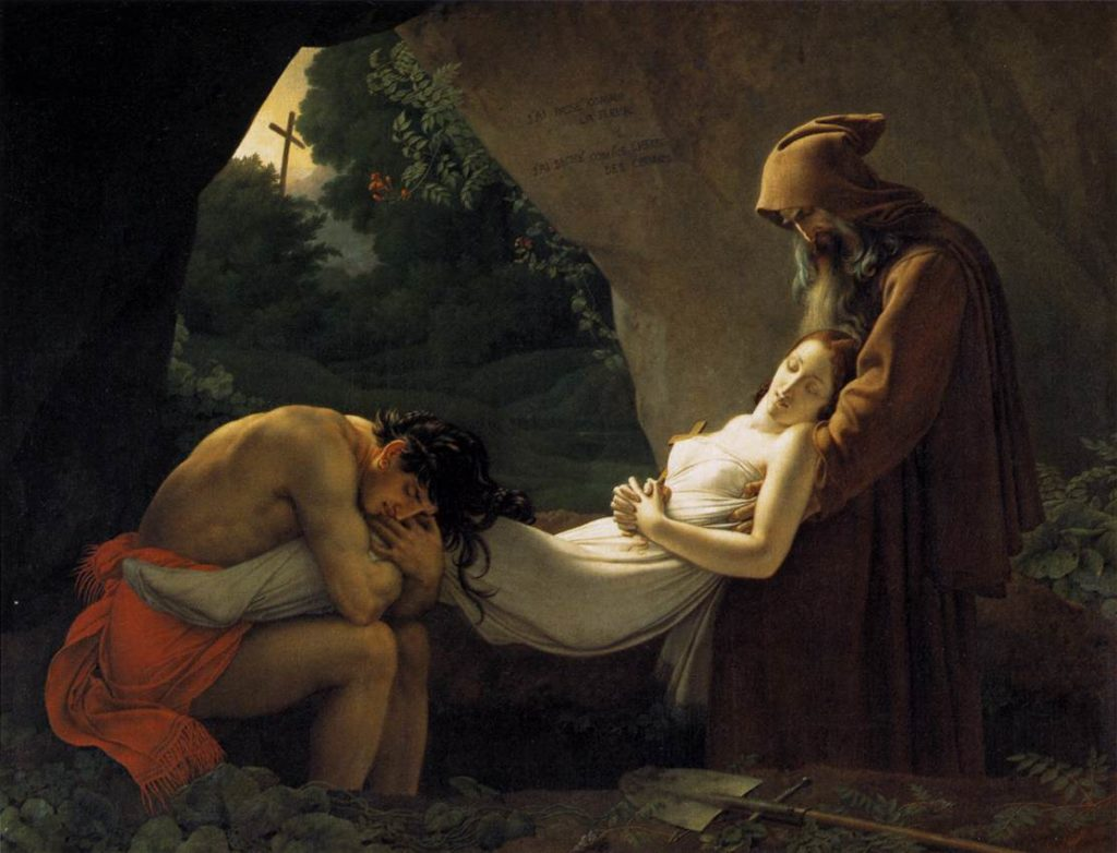 funeral paintings Anne-Louis Girodet-Trioson, The Funeral of Atala, ca. 1811, High Museum of Art, Atlanta