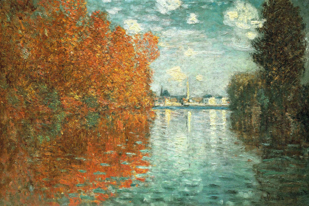 Claude Monet Autumn Effects at Argenteuil Claude Monet, Autumn Effects at Argenteuil, 1873, Courtauld Gallery, Courtauld Institute of Art, London