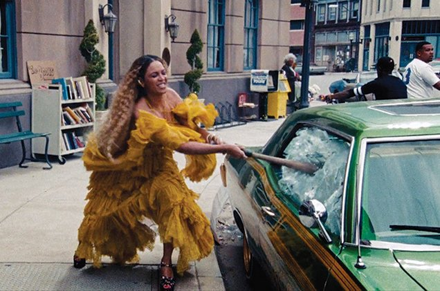 Beyoncé and Pipilotti Rist as Maenads
