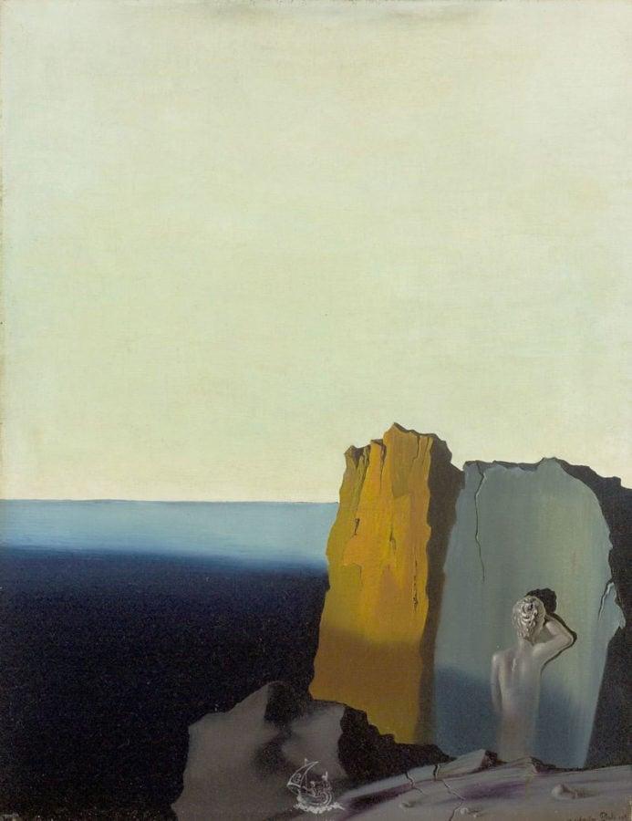 Salvador Dalí, La solitude (Solitude), 1931, Wadsworth Atheneum, Hartford, CT, solitude in painting