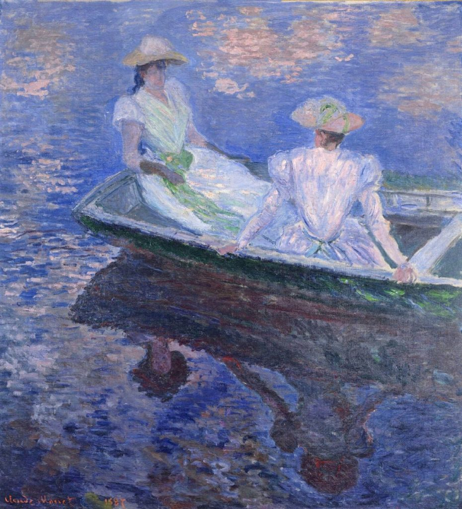 claude monet albertina Claude Monet, Young Girls in a Rowing Boat, 1887, The NAtional Museum of Western Art, Tokyo