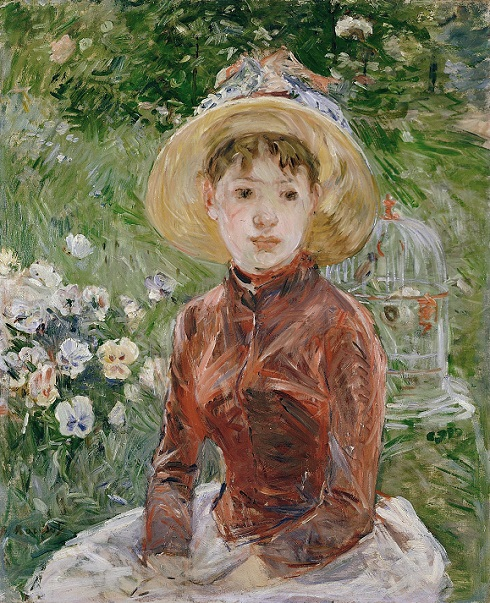Berthe Morisot, Young Girl on the Grass. Mlle Isabelle Lambert, 1885, Ordrupgaard Museum, wilhelm hansens impressionist collection