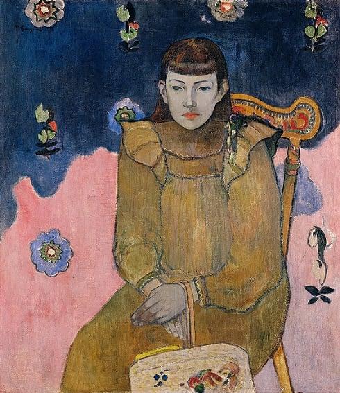 Paul Gauguin, Portrait of a Young Woman. Vaïte (Jeanne) Goupil, 1896, Ordrupgaard Museum, wilhelm hansen's impressionist collection
