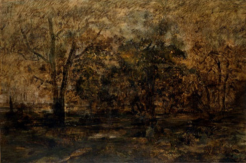 Thédore Rousseau, Sunset in the Forest, 1856-58, Ordrupgaard Museum, wilhelm hansens impressionist collection
