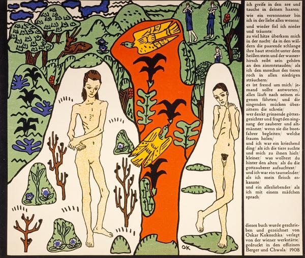 Oskar Kokoschka, Die träumenden Knaben [The Dreaming Youths], 1908, The National Galleries of Scotland, the dreaming youths