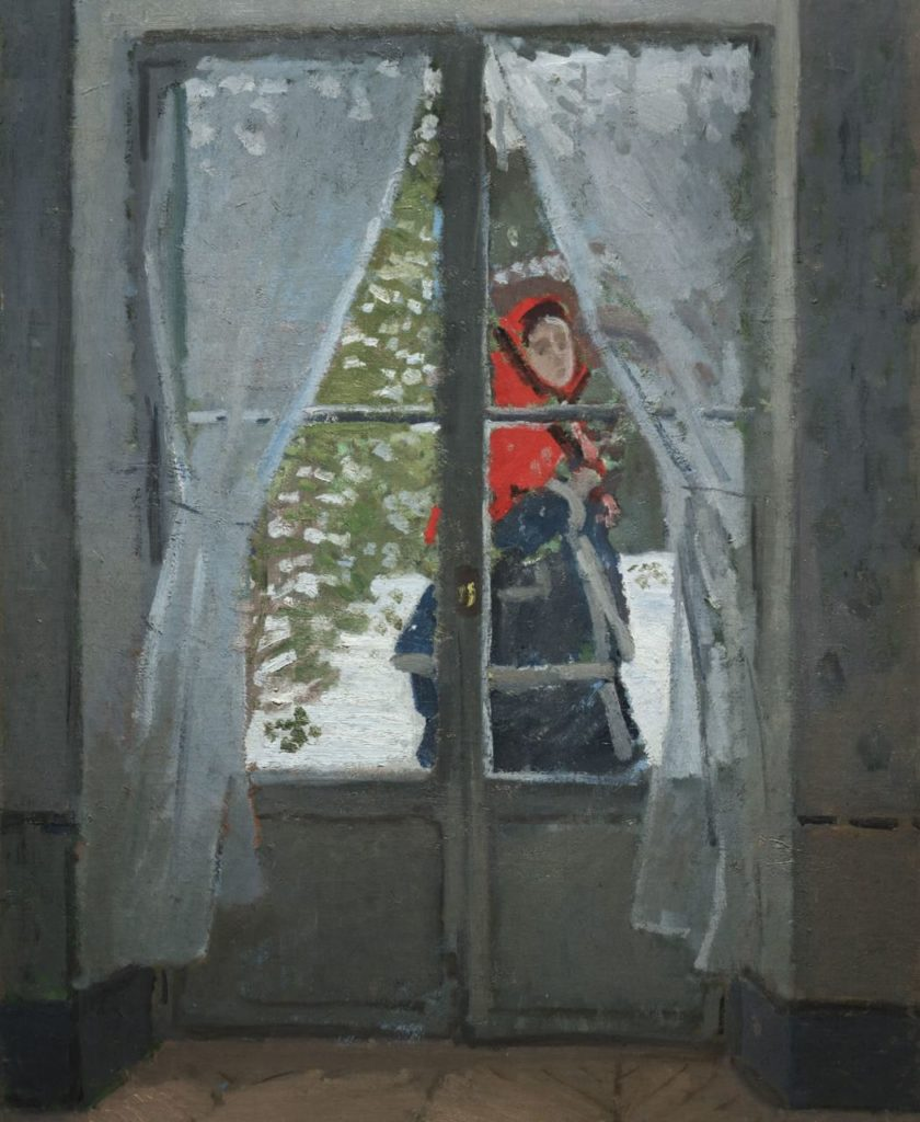 claude monet albertina Claude Monet, The Red Kerchief, Portrait of Mrs. Monet, 1873, The Cleveland Museum of Art