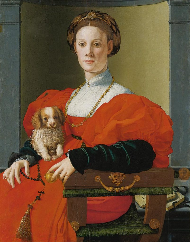 Agnolo Bronzino, Portrait of a Lady with a Lapdog, ca. 1533, Städel Museum - Lady with a dog