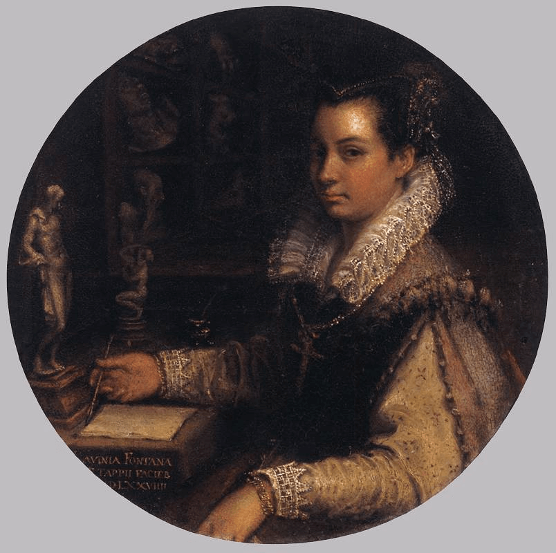Lavinia Fontana Self Portrait in a Studio