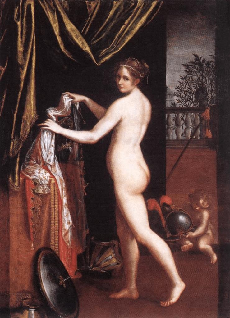 Minerva Dressing by Lavinia Fontana