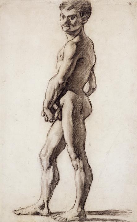 Paul Cezanne, A male nude, 1863, Fitzwilliam Museum (University of Cambridge), Cambridge, UK, movember male nudes
