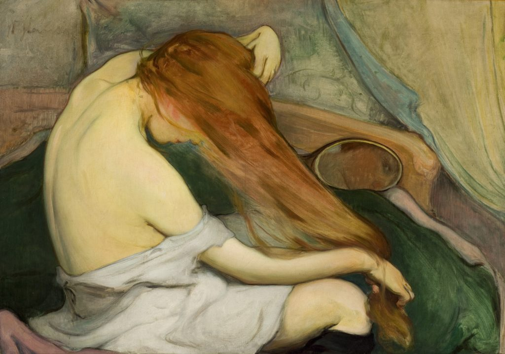 Wladyslaw Slewinski Woman Combing her Hair Wladyslaw Slewinski, Woman Combing her Hair, 1901, The National Museum in Krakow