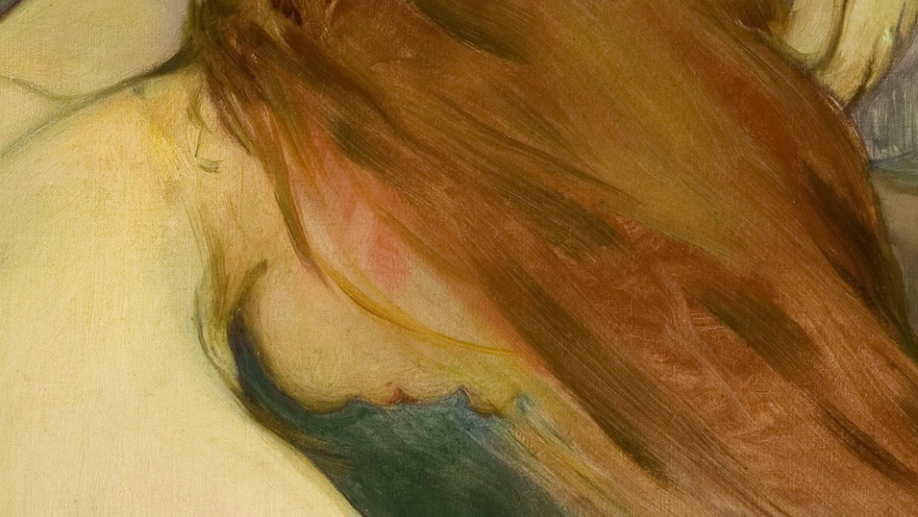 Wladyslaw Slewinski Woman Combing her Hair Wladyslaw Slewinski, Woman Combing her Hair, 1901, The National Museum in Krakow, detail