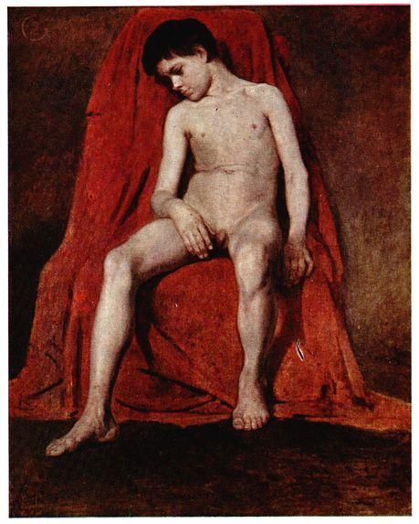 Vasily Surikov, Male nude,1874, Tretyakov Gallery, Moscow, Russia, movember male nudes