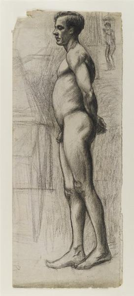 Edward Hopper, Male nude, 1903 - 1904, Brooklyn Museum, New York City, NY, movember male nudes