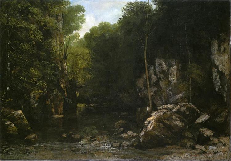 Gustave Courbet, Solitude,1866, Musée Fabre, Montpellier, France, solitude in painting