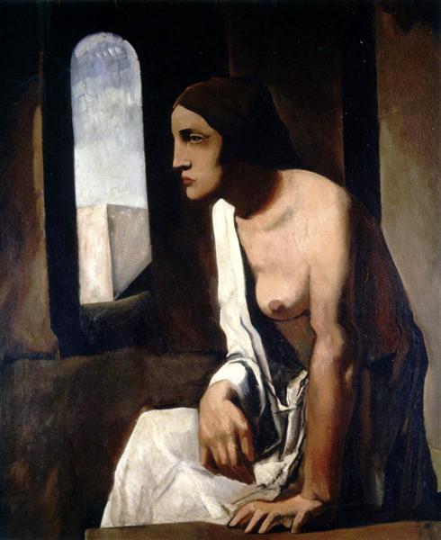 Mario Sironi, Solitude, 1925, Galleria Nazionale d'Arte Moderna, Rome, solitude in painting