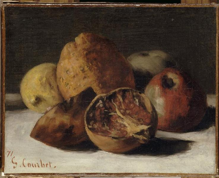 Gustave Courbet, Still Life with Apples and Pomegranates, 1871, Musée d'Orsay, Paris, autumnal still lifes