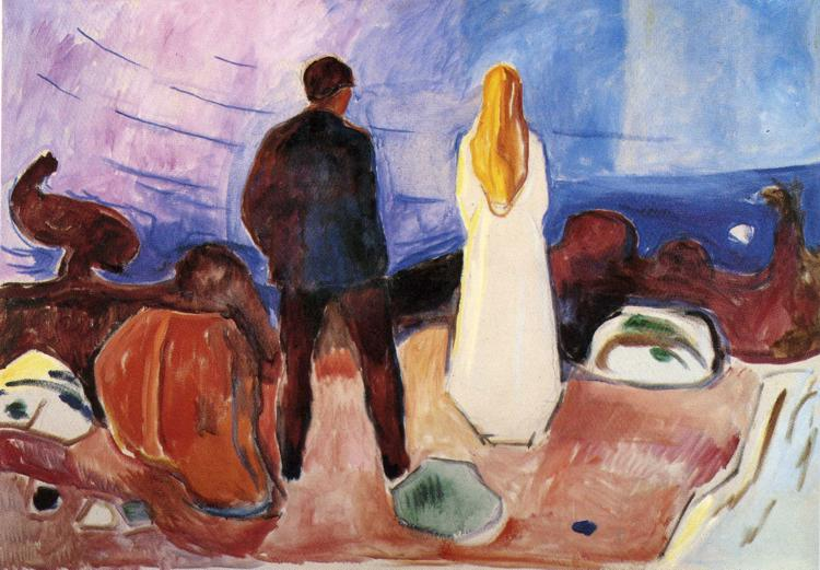 Edvard Munch, The Lonely Ones, 1935, Munch Museum, Oslo, Norway, solitude in painting