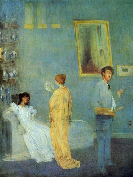 James McNeill Whistler, Whistler in his studio, c.1865, Art Institute of Chicago, Chicago, IL, guide to aestheticism