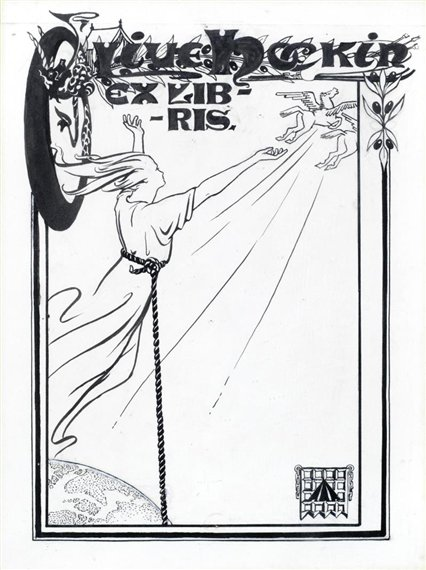 Olive Hockin, Ex-Libris Bookplate (untitled), s.d., private collection, an artist turned suffragette a story of olive hockin