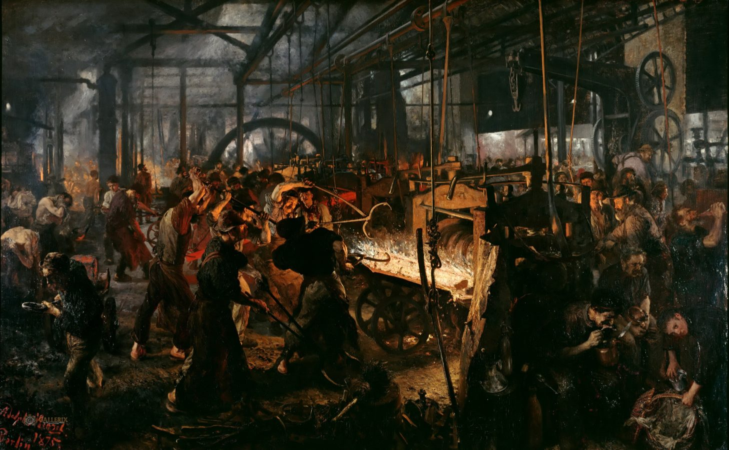 Adolph Menzel, The Iron Rolling Mill
