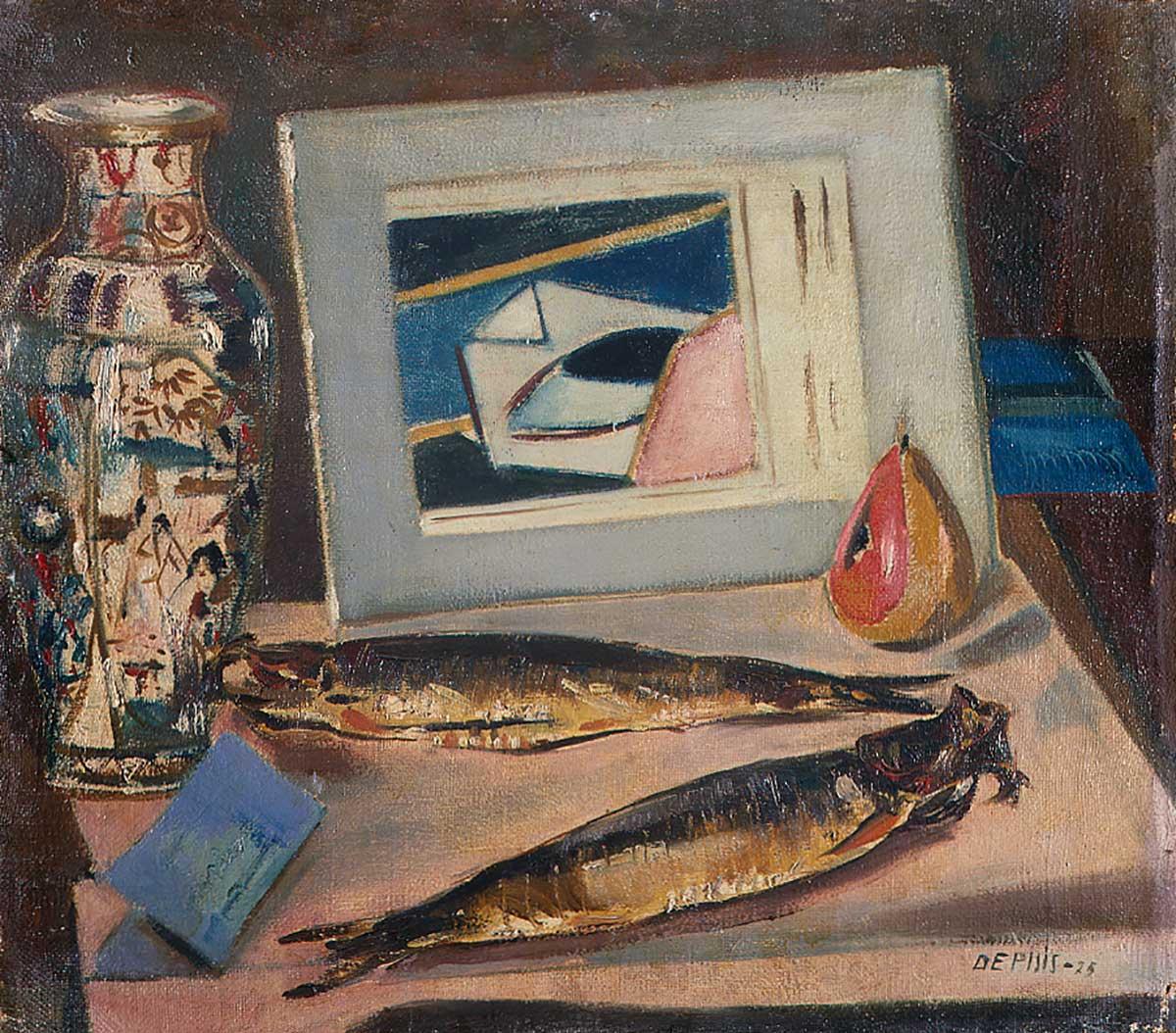 Filippo De Pisis (Filippo Tibertelli), The Sacred Fish, 1924, Pinacoteca di Brera, Milan, fish paintings