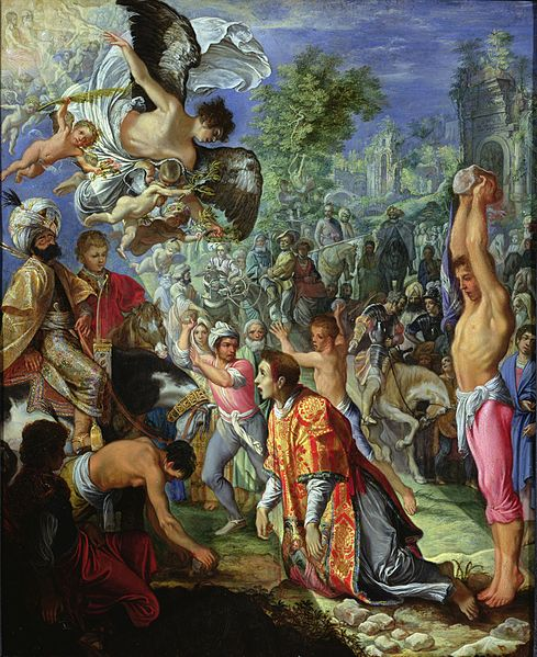 Adam Elsheimer, Stoning of St Stephen, 1604, Scottish National Galleries, boxing day with st stephen
